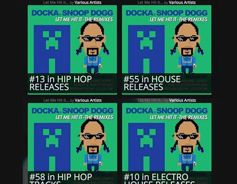 "DOCKA & Snoop Dogg's ""Let Me Hit It"" Remixes Topping the Charts for Two Weeks!"